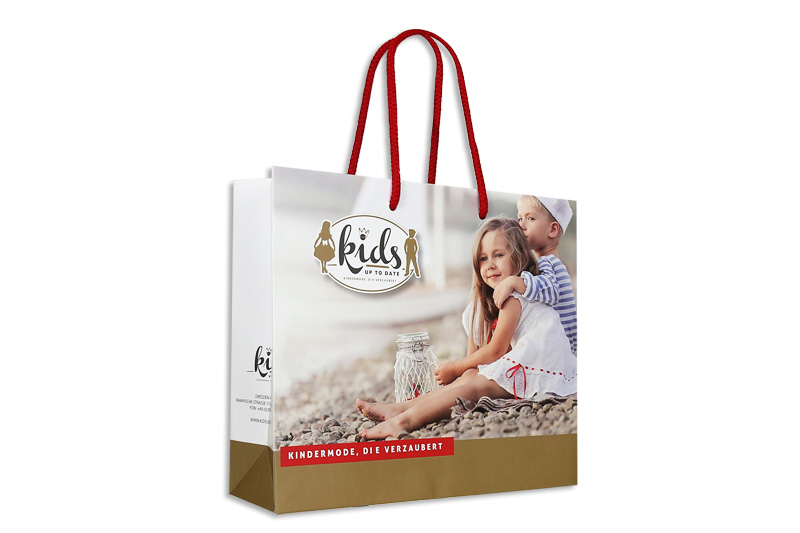 Papiertasche Kids up to date
