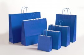 Papiertasche Color royalblau