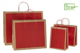 Papiertasche FRAME ECO rot