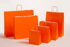 Papiertasche Color orange
